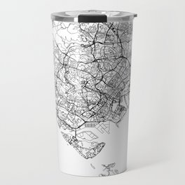 Singapore White Map Travel Mug