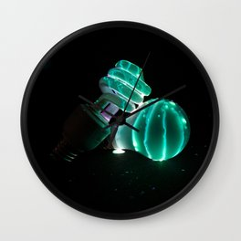 Night Bright Light Bulb Wall Clock