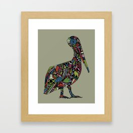 Shafted Pelican Framed Art Print