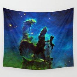 NEbula. : Teal Green Pillars of Creation Wall Tapestry