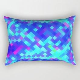 Blue Purple Bright Square Pattern Rectangular Pillow