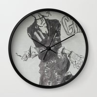 tank girl Wall Clocks featuring Tank Girl by Sofamermaid