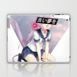 CAT GIRL NEKO GLITCH - SAD JAPANESE ANIME AESTHETIC Laptop & iPad Skin