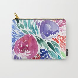 Floral Swirl Carry-All Pouch