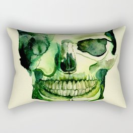 Painted Skull #1 Rectangular Pillow