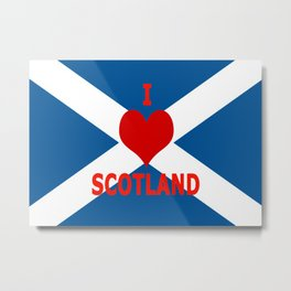 Scotland Flag Saltire Metal Print