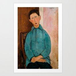 """Amedeo Modigliani """"Boy in a Blue Vest"""" 1918 Art Print"""