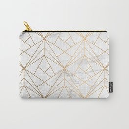 Marble, Geometry and Gold Carry-All Pouch