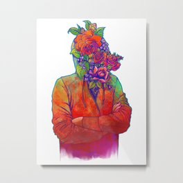 FLOWERS HEAD Metal Print