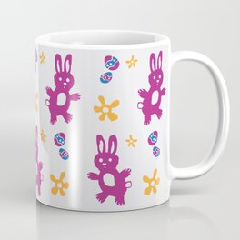 The Great Easter Egg Hunt - Pink Mauve Yellow Blue Coffee Mug