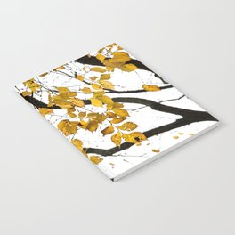 Golden Leaves on a Limb Notebook