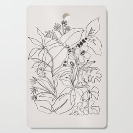 Charcoal Tropics Cutting Board