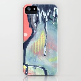 Dry Wave - Abstract Painting - Paint Drip  iPhone Case