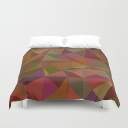 Autumn  triangles Duvet Cover