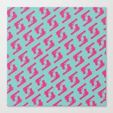 Mint and pink guns Canvas Print