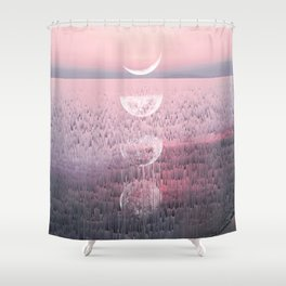 Glitches at Sunset Shower Curtain