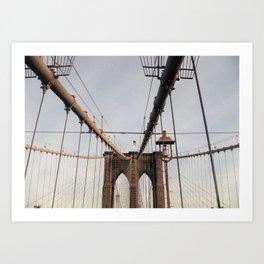 Bridge over water . Art Print