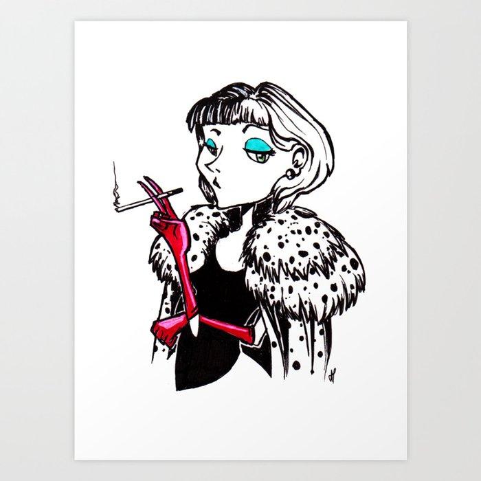 Cruella Art Print By Laviride