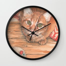 Alfie, fearsome destroyer of mice Wall Clock