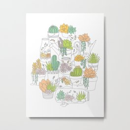 Home is Where My Plants Are Metal Print