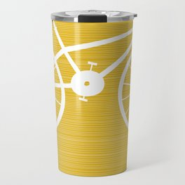 Yellow Bike by Friztin Travel Mug