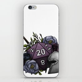 Fighter Class D20 - Tabletop Gaming Dice iPhone Skin
