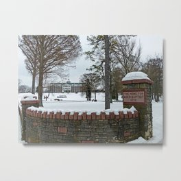 The Baptist Home Metal Print