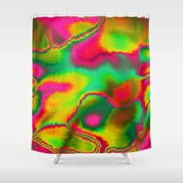 Ethnic Glitch Shower Curtain