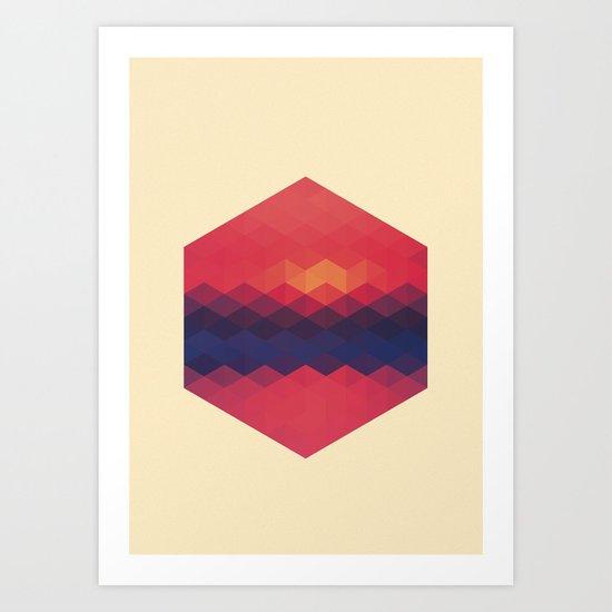 Exagon V.1 Art Print