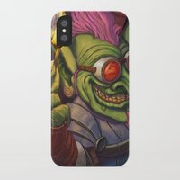 warcraft iPhone & iPod Cases featuring The Firework Maker Goblin by foreest