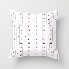 Orchid/Navy Stripe Throw Pillow
