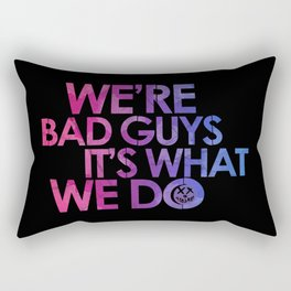 Harley Quinn's Quote - black Rectangular Pillow