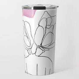 Contour Line Cactus 4 Travel Mug