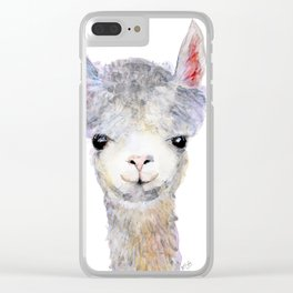 Baby Alpaca / Llama Clear iPhone Case