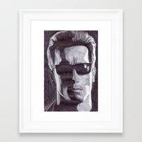 terminator Framed Art Prints featuring Terminator by DeMoose_Art