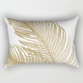 Palm Leaves Finesse Line Art with Gold Foil #2 #minimal #decor #art #society6 Rectangular Pillow