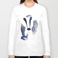 badger Long Sleeve T-shirts featuring Badger by ramalamb