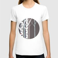 birch T-shirts featuring birch trees by liva cabule