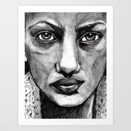 Pencil Portrait Art Print