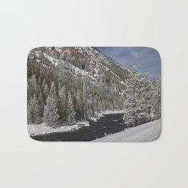 Carol Highsmith - Snow Covered Conifers Bath Mat