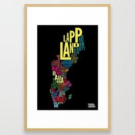 Svenska landskap (Swedish provinces) Framed Art Print