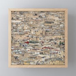 Skyline Roofs of Fes Marocco Framed Mini Art Print