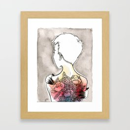 Inky 4 Framed Art Print