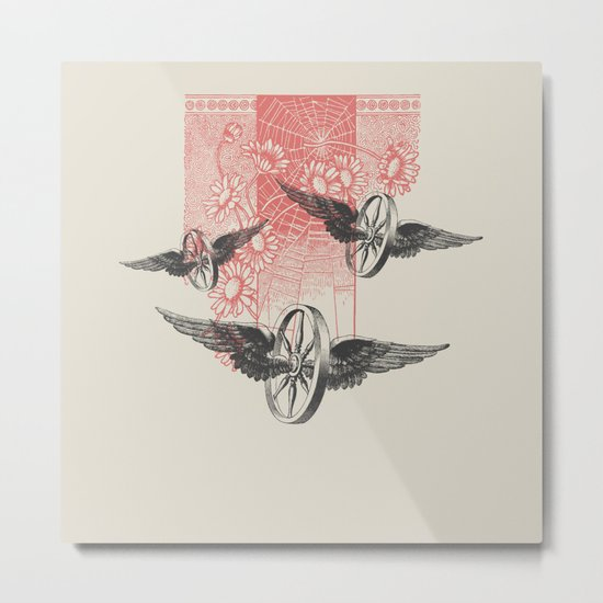 Cosmic Wheels Metal Print