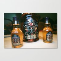 whisky Canvas Prints featuring whisky by songzhen