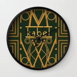 Kabel Type Portrait Green  Wall Clock