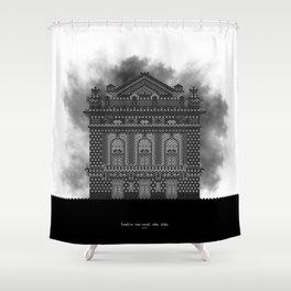 HexArchi - Portugal, Porto, Teatro Nacional São João Shower Curtain
