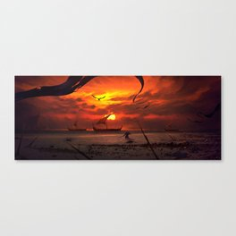 Beach Battlefront Canvas Print