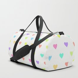 Cute Pastel Rainbow Hearts Pattern Duffle Bag