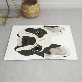 Custom Frenchie Portrait Rug
